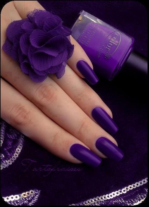 Фото ногтей цвет фиолетовый