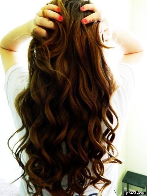 Длинные волнистые волосы вид сзади