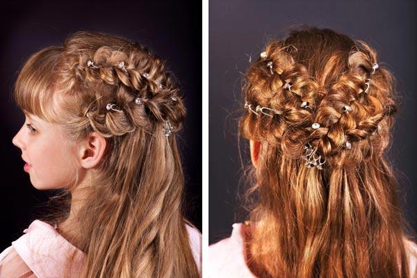 Красивые детские причёски на длинные волосы своими руками
