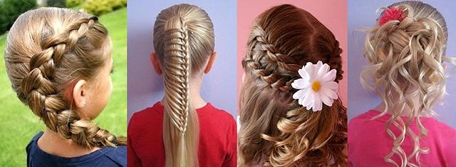Прически на длинные волосы на первое сентября своими руками