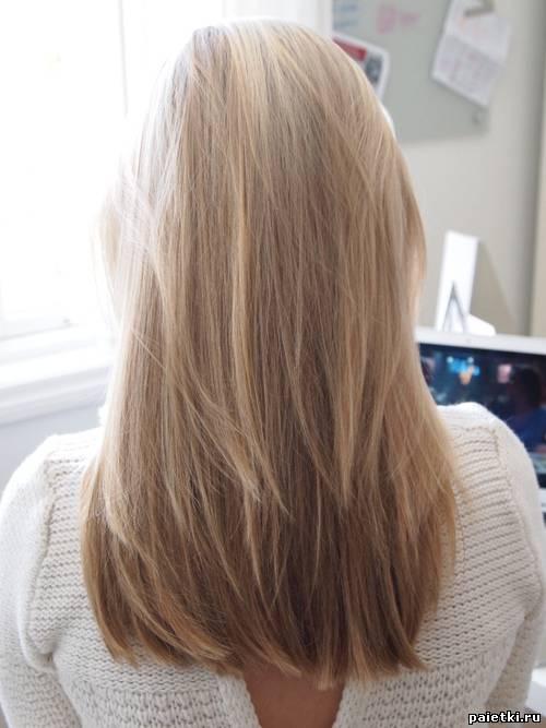 Русые волосы со спины