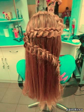 Прическа на длинные волосы быстро и просто своими руками