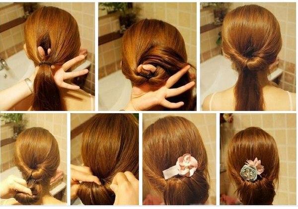 Несложные причёски на средние волосы своими руками видео
