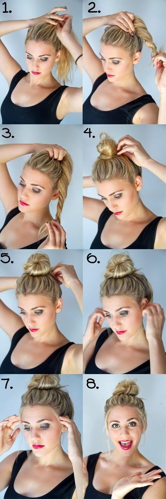 Пучки на средние волосы своими руками пошаговое фото