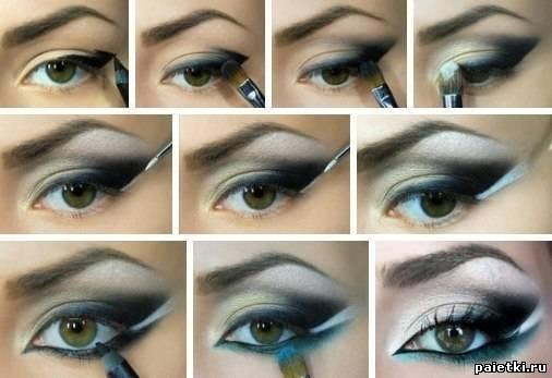 пошагово:Макияж для серо-зеленых глаз